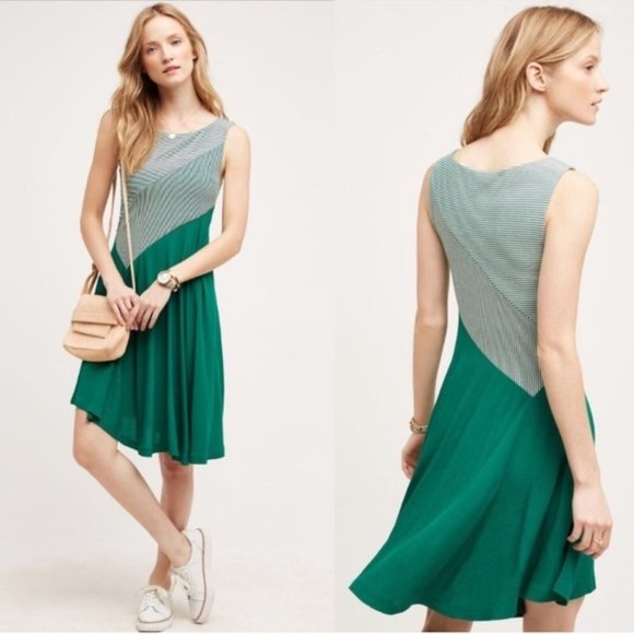 NWOT Anthropologie Maeve Cameron Green Dress
